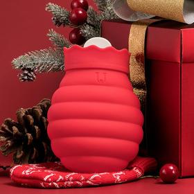 Jordan Judy 蜜罐造型  可微波炉加热热水袋 硅胶注水暖手宝 暖宫 可冰箱冰冻 (送针织外套)