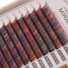 韩国MIRACLE  0.07mm粗度彩色山茶花多颜色混合色睫毛