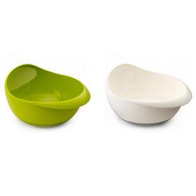 英国进口Joseph三合一洗菜盘滤水器沙拉碗水果篮淘米器 滤水盆