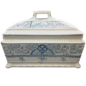 【菲集】欧洲艺术品 收藏品 1885年汤碗 汤盆 陶瓷古董餐桌摆件餐具 跨境直邮