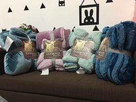 爆款外贸素色羊羔绒毛毯双层加厚秋冬盖毯午睡毯子