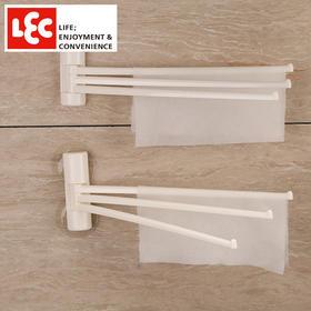 日本丽固LEC 新款加厚180度可旋转真空吸盘多功能超强吸盘毛巾架