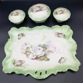【菲集】艺术品 1900-1920年 中欧女士梳妆台 陶瓷制品 轻古董 跨境直邮