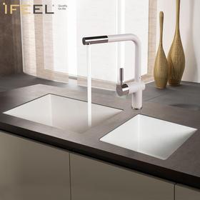 艾斐花岗岩水槽台下盆组合双单槽搭配套餐石英石厨房水槽洗菜盆