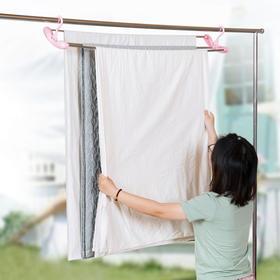 可伸缩晒被单衣架加长晾衣架 儿童婴儿浴巾衣服被子挂衣架