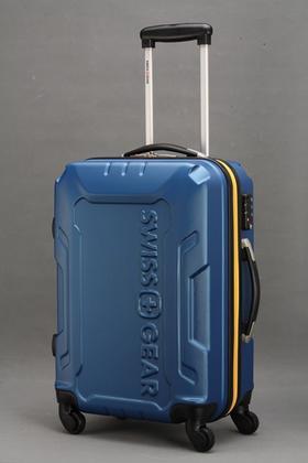 【爱心箱送】26寸4轮蓝色拉杆箱