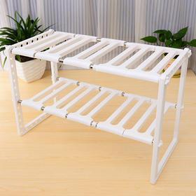 不锈钢可随意收缩水槽架 置物架收纳架 厨房置物架 伸缩架