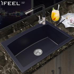 艾斐水槽459加厚洗碗池大单槽厨房洗菜盆台下盆适用厨房水槽水池