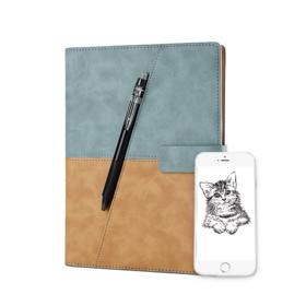 【一辈子都写不完的黑科技笔记本】Elfinbook X 皮面商务笔记本 可重复书写 绘画手抄 App备份