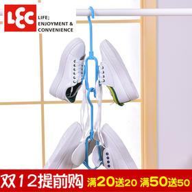 日本丽固LEC 家用晾鞋架多层塑料收纳架一体式鞋托简约晒鞋架子