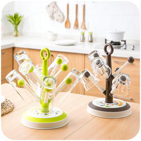 居家家 创意树沥水架水杯架塑料杯架 厨房放茶杯的架子
