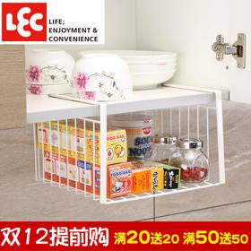 日本丽固LEC 抽屉挂架零食多功能厨房收纳架办公室书桌两层置物架