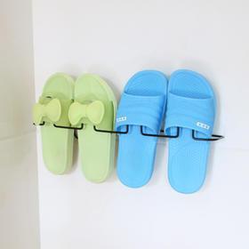 粘贴式铁艺鞋架浴室拖鞋架沥水架客厅创意鞋托架吸壁挂式鞋收纳架