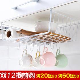 日式 储物架隔板厨房置物架推拉衣柜收纳架厨房家居用品下挂钩