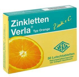 【宝宝补锌】德国Zinkletten Verla儿童补锌+VC含片 橘子味 50片
