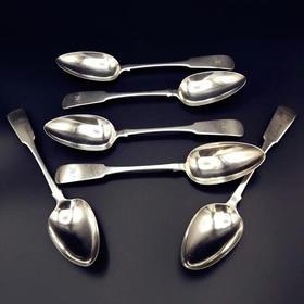 【菲集】艺术品 乔治三世时期纯银汤匙1861年制 纯银制品 银勺子 收藏品 跨境直邮
