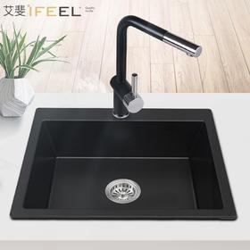 艾斐石英花岗岩水槽高硬度中小号厨房水槽耐磨洗菜盆中单槽SKS276