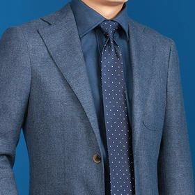 尊轩级男士双面磨毛法兰绒纯棉英式衬衫