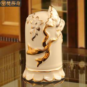 梵莎奇奢华陶瓷牙签盒欧式客厅家用牙签筒创意装饰品餐桌酒店摆件