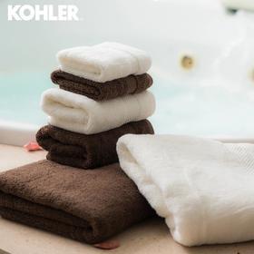 科勒(KOHLER) 埃及长绒棉毛巾 面巾2件套礼盒装