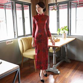一点红高档丝绸面料修身旗袍ZA