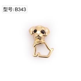 【美甲金属饰品】B343美甲饰品金属镂空可爱小黑狗金底弧面弧度