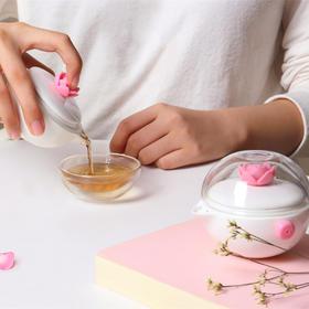 【创意生活】女神专属 创意茶杯  便携式茶具,EMS全国发货