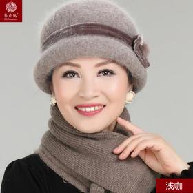 冬款女士盆帽加围巾套装
