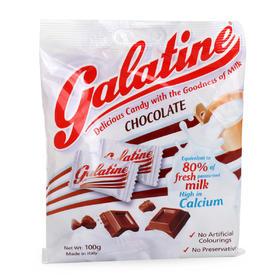 意大利Galatine佳乐锭阿拉丁巧克力味 牛奶片糖果 宝宝零食 100g