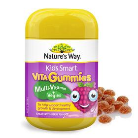 澳洲Nature's Way佳思敏儿童多元维他命+蔬菜营养软糖 60粒