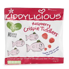 英国 童之味 kiddylicious 宝宝零食覆盆子水果味脆脆鱼形糖果12g