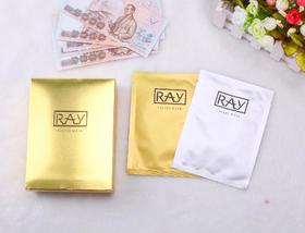 泰国 RAY蚕丝面膜金银保湿补水晒后修护收缩毛孔祛痘印10片/盒