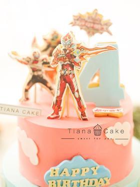 铠甲勇士 定制奶油蛋糕