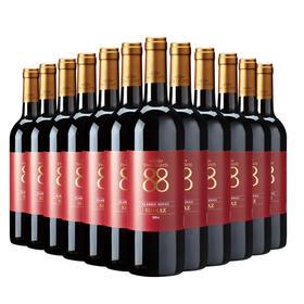 首彩红酒 88经典西拉干红葡萄酒750ml 果香浓郁