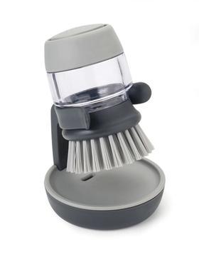 英国Joseph Joseph带皂液锅刷/洗碗刷/厨房清洁刷子按压刷,家务刷