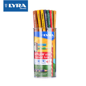 lyra Groove slim 24色48支筒装三角洞洞彩色铅笔