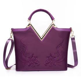 时尚中国风刺绣女士单肩手提尼龙托特包BG0071651