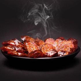 【拉乌】川味黑猪腊肠 1斤装 生态黑猪肉 传统熏制 包邮