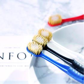 日本进口惠百施(EBISU) 成人软毛-超软毛牙刷 48孔/41孔,4支装/3支装优惠组合装