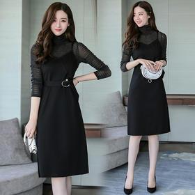 春季A型假两件套连衣裙 货号ABS6815