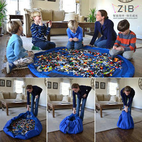 智伴 儿童玩具快速收纳袋 大号