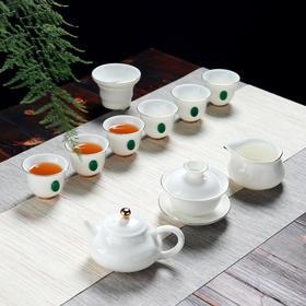 景德镇陶瓷功夫茶具 金镶玉 家用办公室整套茶具小杯子茶杯泡茶壶