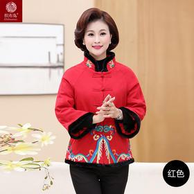 民族风刺绣花棉袄棉麻唐装大码棉衣TYWF8472