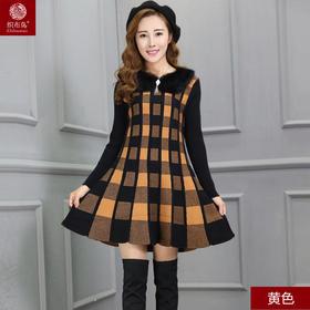 新款优雅时尚仿貂绒连衣裙HL8884