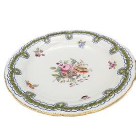 【菲集】 艺术品 1800年左右 高脚瓷盘 糕点盘点心盘 下午茶盘 轻古董 跨境直邮