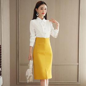 2018春装新款韩版时尚衬衫 高腰包臀裙套装GZHY-C133C76924