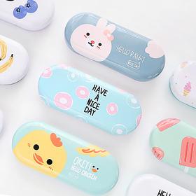 韩国小清新马口铁盒眼镜盒