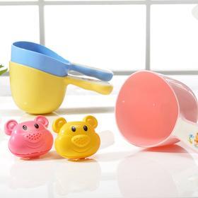 日康宝宝花洒水舀婴儿洗澡水瓢沐浴水勺儿童水舀子颜色随机 乐友