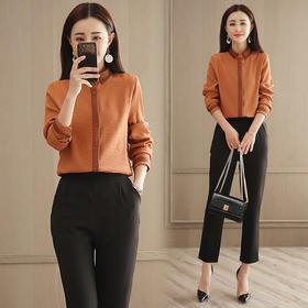 2018春装新款OL时尚衬衫 韩版小脚裤套装女GZHY-C133C76967