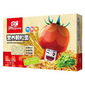 方广菠菜+铁锌钙营养颗粒面200g盒装小袋分装婴儿辅食宝宝面乐友